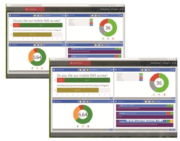 CSAT - Real-time customer satisfaction surveys across multiple media types - screenshots